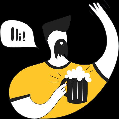 Mann som drikker